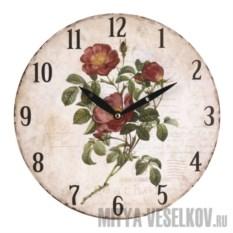 Настенные часы Бордовый шиповник