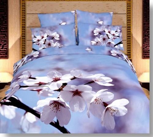 Комплект постельного белья Цветение 3D (сатин)
