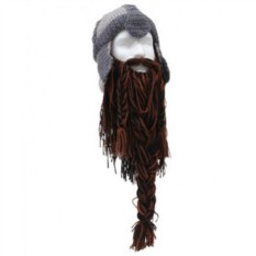 Бородатая шапка Warrior Brown-Black