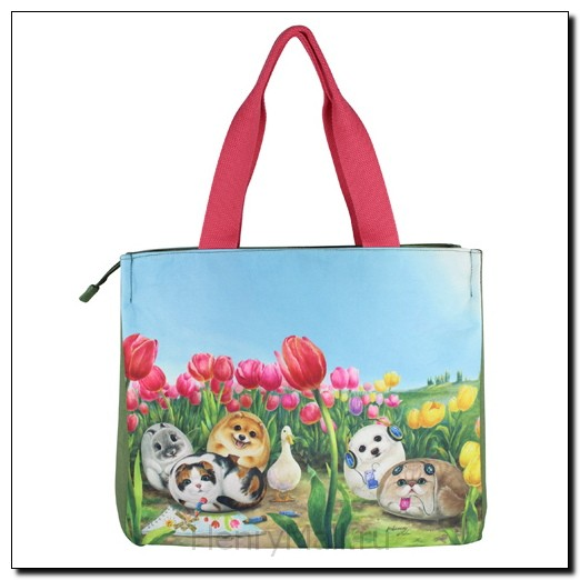 Классическая сумка-тоут «Тюльпаны»