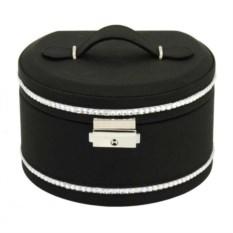 Черная шкатулка для украшений Glamour