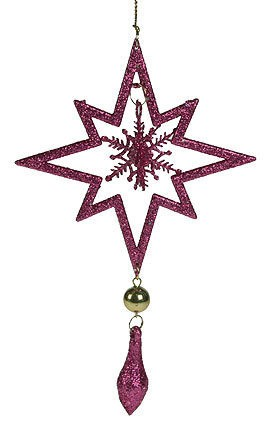 Игрушка ёлочная Звезда, розовая
