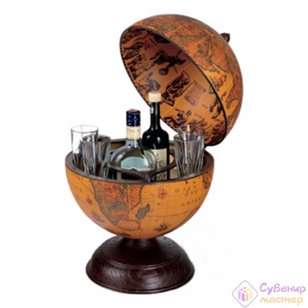 Настольный глобус-баp Кругосветное путешествие, 33 см