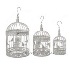 Декоративная малая кованая клетка Птичка