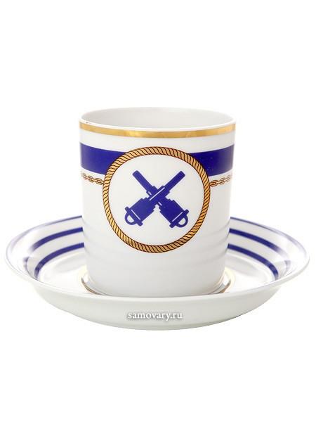 Фарфоровая чайная чашка с блюдцем Кают компания № 2