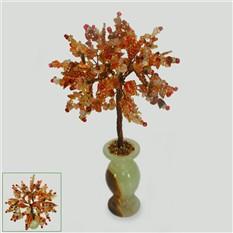 Дерево желаний из сардоникса в вазочке из оникса