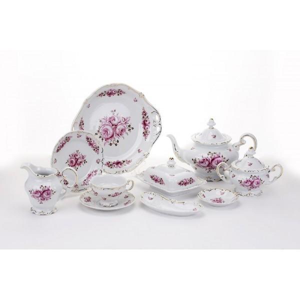 Фарфоровый чайный сервиз на 6 персон Роза