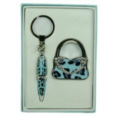 Подарочный набор Леопард: ручка, крючок для сумки