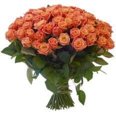 Букет из 101 розы сорта Мисс Пигги (40 см)