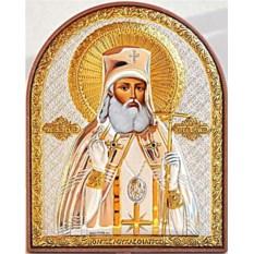 Маленькая серебряная икона Лука Крымский Симферопольский