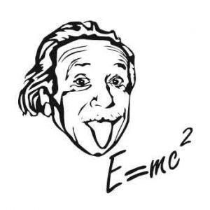 Стикер настенный Эйнштейн