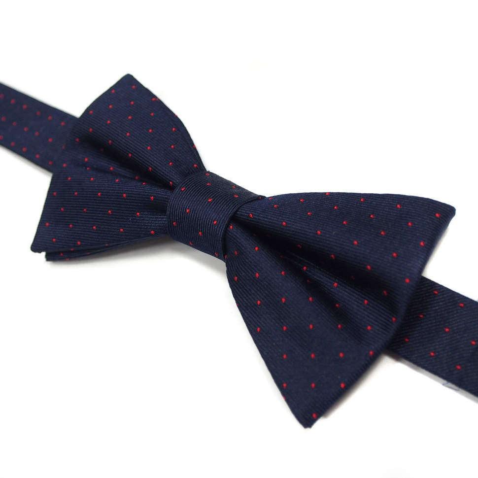 Синий галстук бабочка с красными точками Laura Biagiotti
