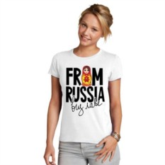 Женская футболка From Russia виз лаве