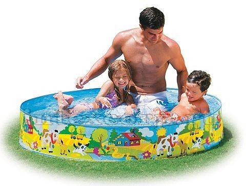 Жесткий бассейн Веселые Зверята для детей от 3 лет