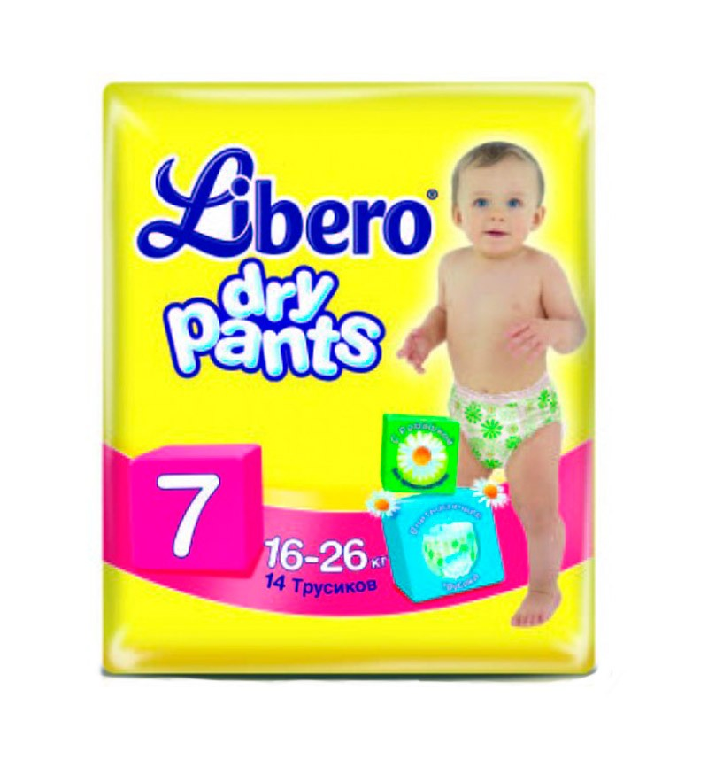 Трусики-подгузники Libero Dry Pants XL+ (16-26 кг) 46 шт.