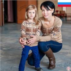 Парные кардиганы для мамы и дочки Нежность
