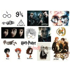 Лист виниловых наклеек Гарри Поттер
