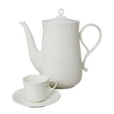 Набор из 6 чашек 0,12 л и 6 блюдец для кофе Шёлк