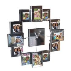 Полированные часы-фоторамка Семейный калейдоскоп