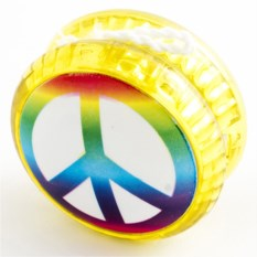 Волчок на шнуре YO-YO Peace с разноцветным знаком