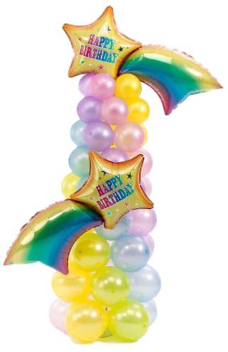 Колонна из воздушных шаров «Звёзды»