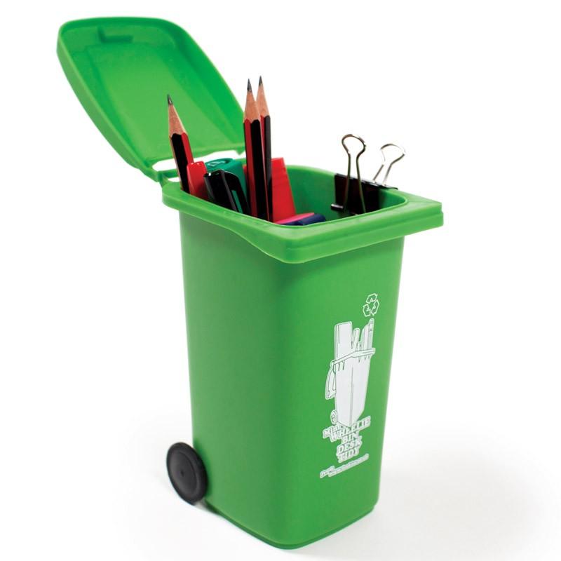 Органайзер для рабочего стола Wheelie Bin, зеленый