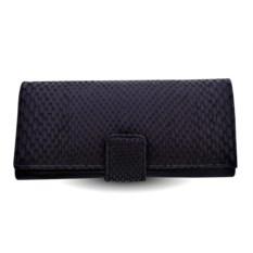 Мужское черное портмоне из кожи питона
