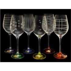 Набор разноцветных бокалов для вина Celebration