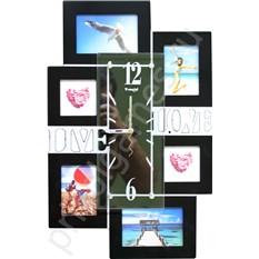 Настенные часы-фоторамка Семья, вертикальные