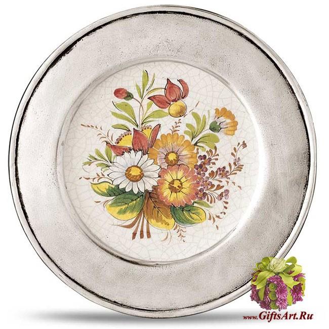 Настенная тарелка из олова Cosi Tabellini Италия