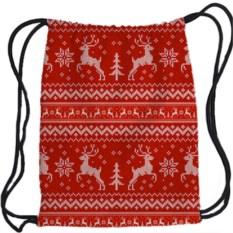 Рюкзак-мешок 3D Скандинавский узор. Олени