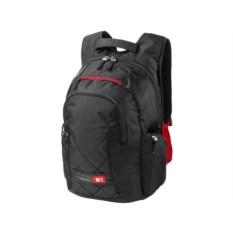 Черный с красным рюкзак для ноутбука
