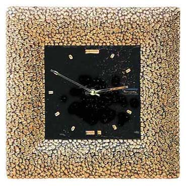 Настенные часы «Золотой квадрат»  380x380 мм
