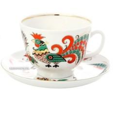 Фарфоровая чайная пара Два петуха