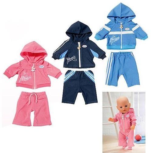 Спортивные костюмчики для куклы Baby Born
