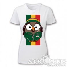 Женская футболка с совой Боб с флагом