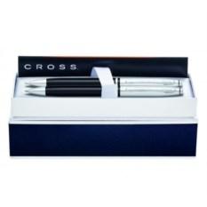 Чёрно-серебристый набор Cross Avitar: ручка и карандаш