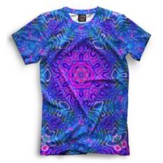 Синяя мужская футболка Psychedelic