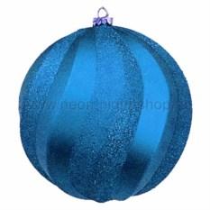Елочная игрушка Шар синего цвета