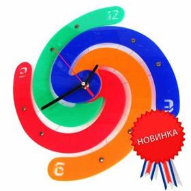 Часы настенные Разноцветная спираль
