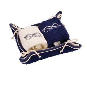 Набор полотенец в корзине «Узелки»