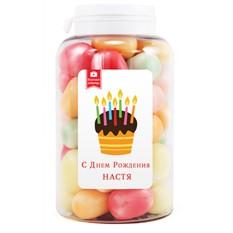 Мармеладная открытка С Днем рождения, Настя