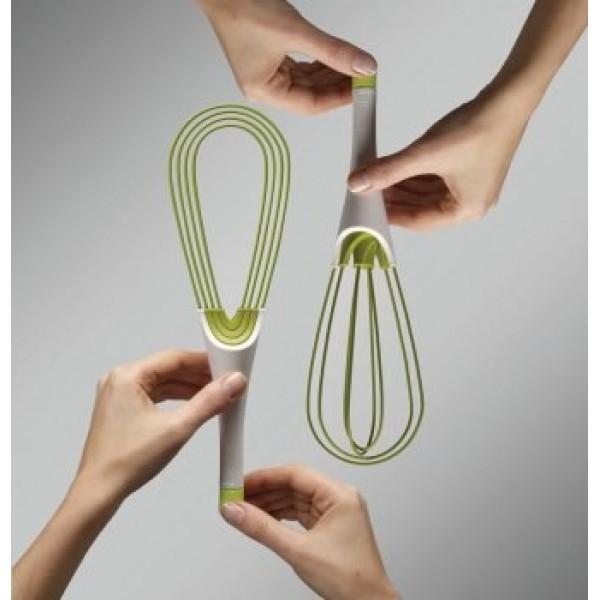 Складной венчик 2в1 Twist™, бело-зеленый