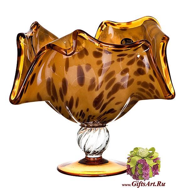 Ваза фруктовница из муранского стекла