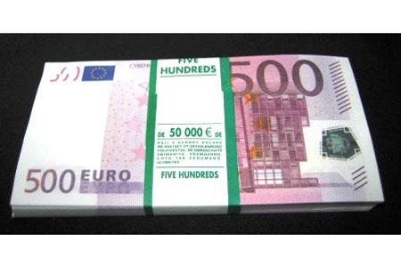 Пачка денег «500 EUR»