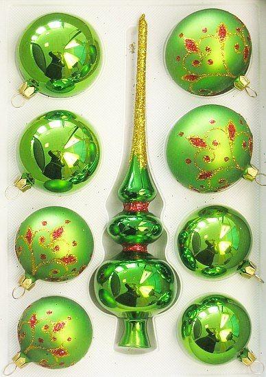 Набор елочных игрушек Эдельвейс (зеленый)