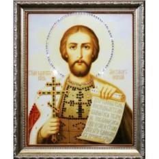 Икона Святой Александр с кристаллами Swarovski