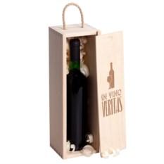 Коробка для вина с гравировкой In Vino Varitas
