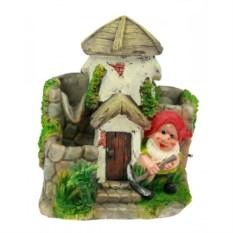 Декоративный фонтан Гномик у домика