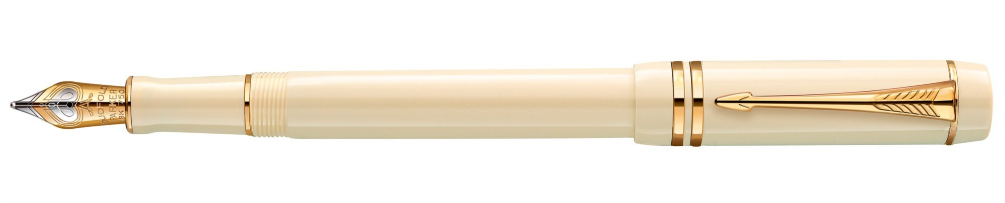 Перьевая ручка Parker Duofold Centennial White Ivorine GT